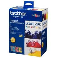 Brother Lc38Cl Value 3 Pack Of Lc38C  Lc38M  Lc38Y