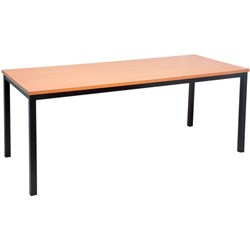 Rapidline Table 1800L*750W*720Hmm Steel Frame/Laminate Top Beech